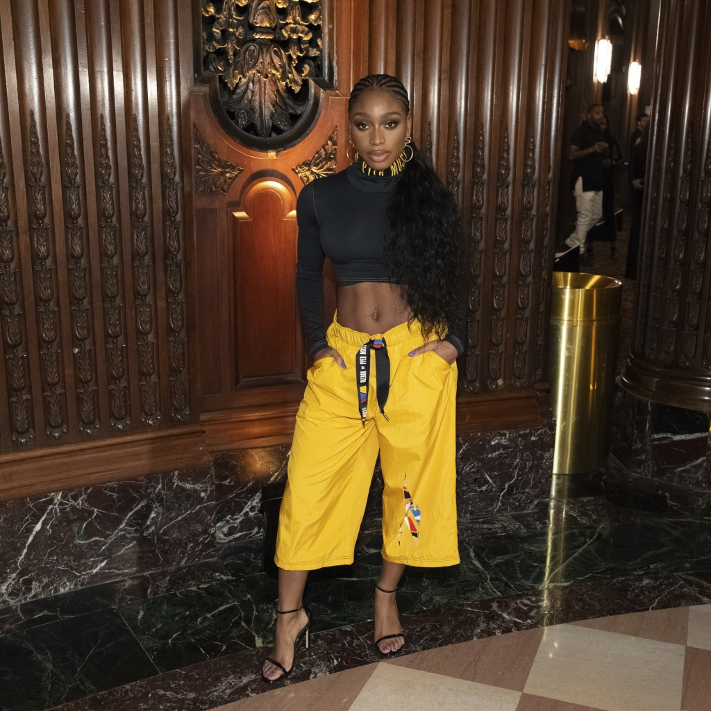 Singer Normani attends the Pyer Moss runway show during NYFW Spring/Summer 2020 on Sunday, Sept. 8, 2019, in Brooklyn, New York. (Photo by Brent N. Cl...