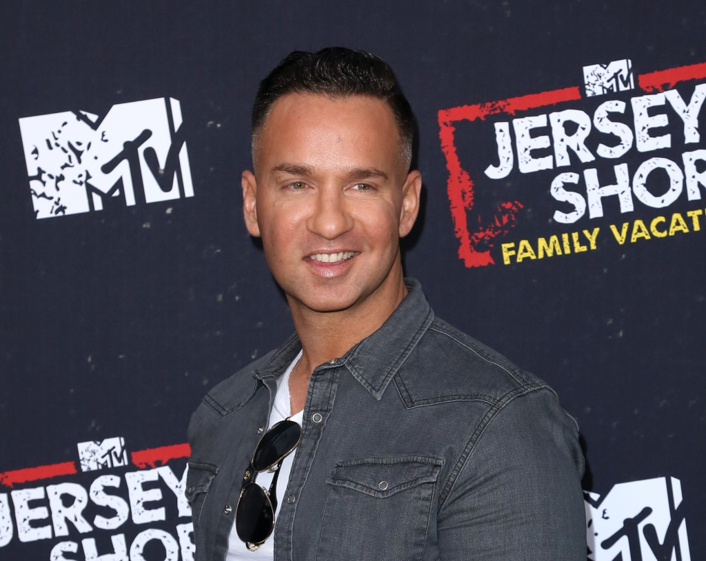 """FILE - This March 29, 2018 file photo shows Mike """"The Situation"""" Sorrentino at the premiere of """"Jersey Shore Family Vacation""""  in Los Angeles. Sorrent"""