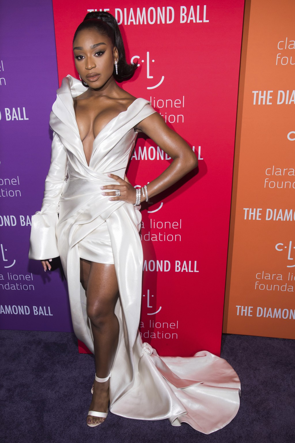 Normani attends the 5th annual Diamond Ball benefit gala at Cipriani Wall Street on Thursday, Sept. 12, 2019, in New York. (Photo by Charles Sykes/Inv...