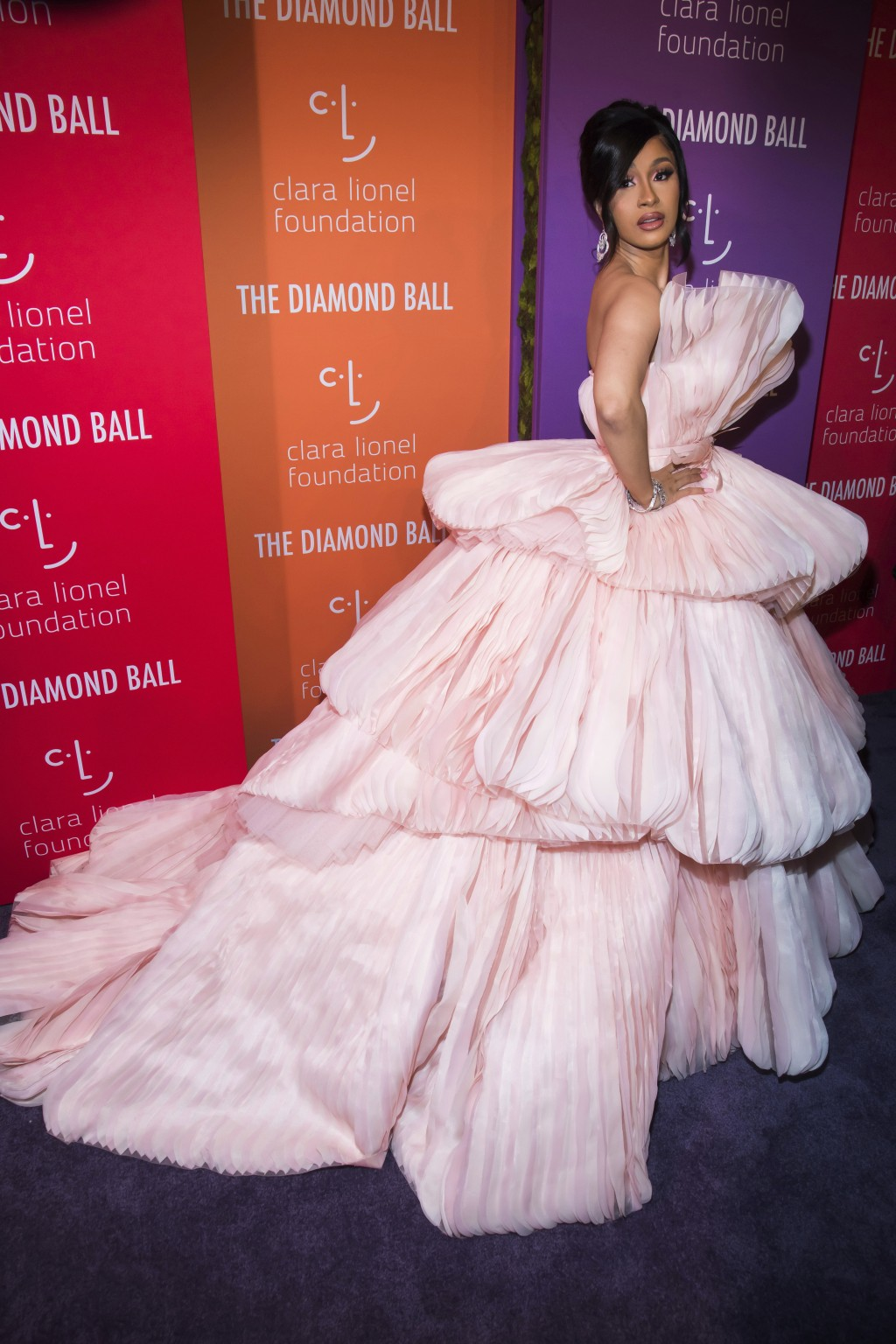 Cardi B attends the 5th annual Diamond Ball benefit gala at Cipriani Wall Street on Thursday, Sept. 12, 2019, in New York. (Photo by Charles Sykes/Inv...