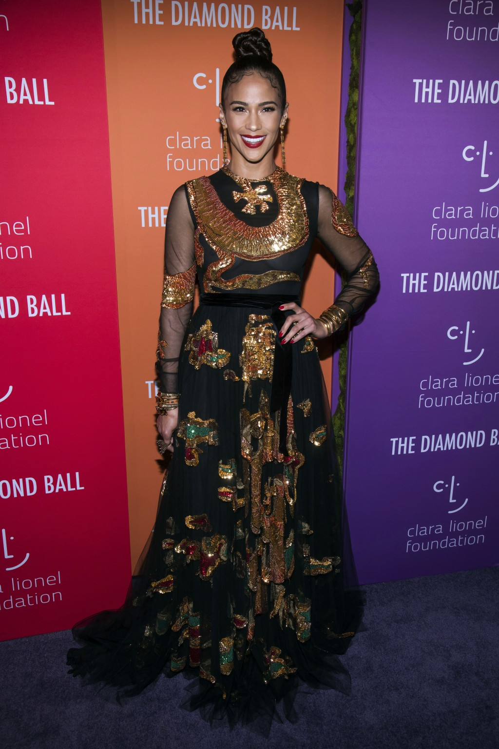 Paula Patton attends the 5th annual Diamond Ball benefit gala at Cipriani Wall Street on Thursday, Sept. 12, 2019, in New York. (Photo by Charles Syke...