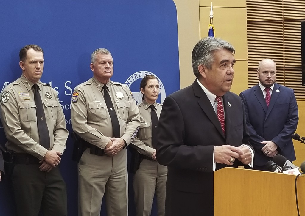 David Gonzales, U.S. Marshal for Arizona, speaks about the capture of husband and wife fugitives on Thursday, Sept. 12, 2019, at the Sandra Day O'Conn