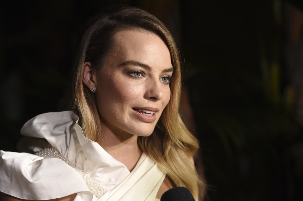 Actress Margot Robbie is interviewed at the launch of the Gabrielle Chanel Essence fragrance at the Chateau Marmont, Thursday, Sept. 12, 2019, in Los ...