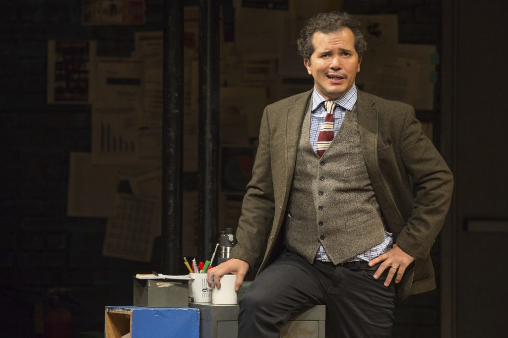 """This image released by Polk & Co. shows John Leguizamo during a performance of his one-man show """"Latin History for Morons."""" Leguizamo returns to the E"""