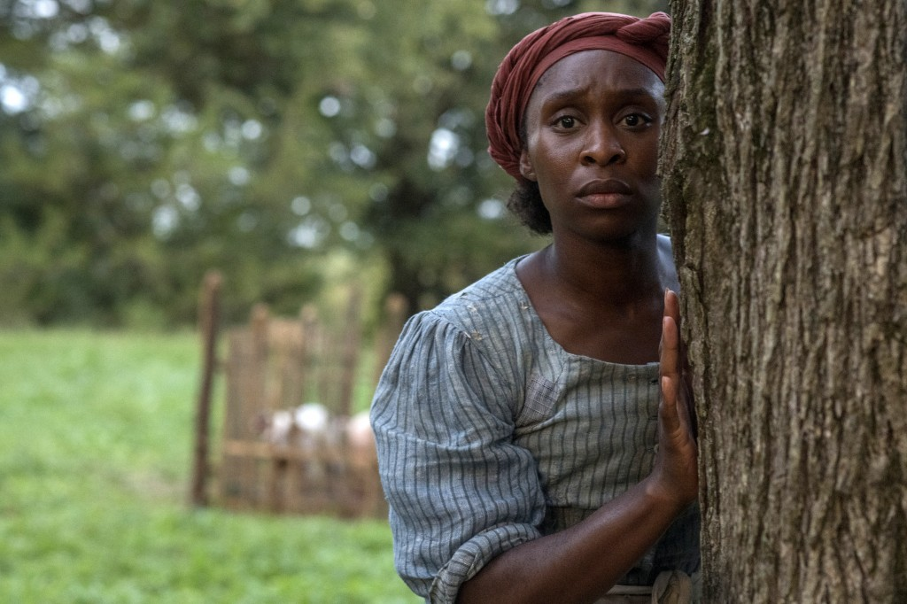 """This image released by Focus Features shows Cynthia Erivo as Harriet Tubman in a scene from """"Harriet,"""" a film that will be featured during the Toronto..."""