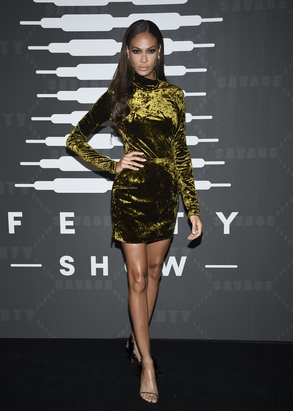 Model Joan Smalls attends the Spring/Summer 2020 Savage X Fenty show, presented by Amazon Prime, at the Barclays Center on Tuesday, Sept, 10, 2019, in