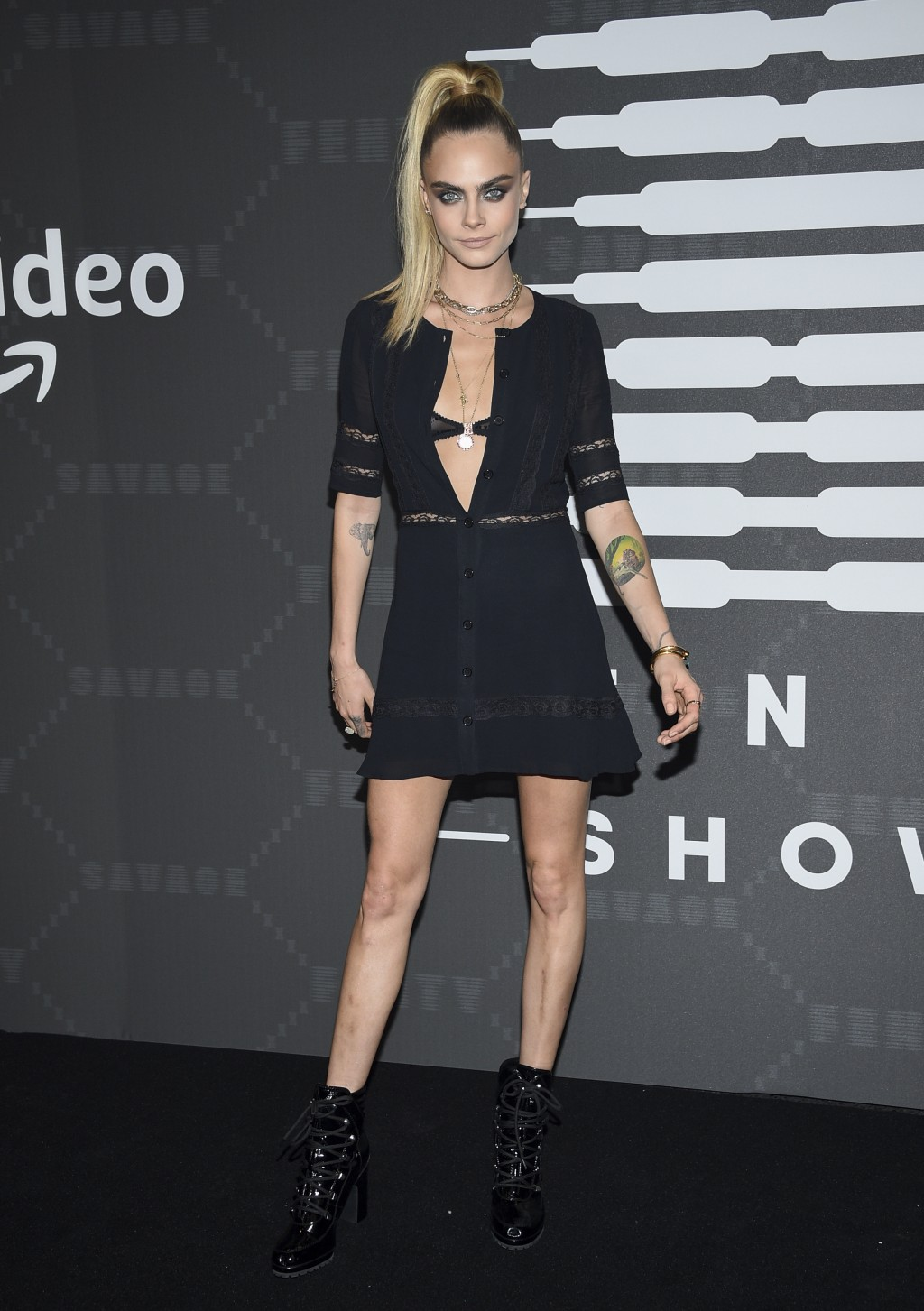 Actress Cara Delevingne attends the Spring/Summer 2020 Savage X Fenty show, presented by Amazon Prime, at the Barclays Center on Tuesday, Sept, 10, 20