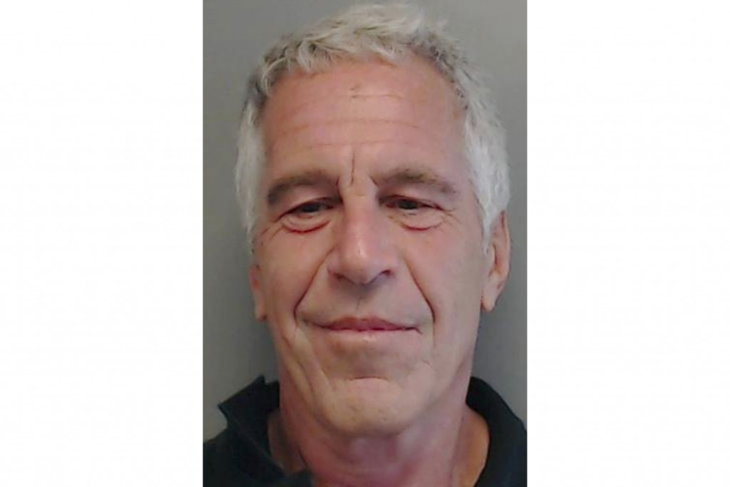 FILE - This July 25, 2013, file image provided by the Florida Department of Law Enforcement shows financier Jeffrey Epstein. President of the Massachu...