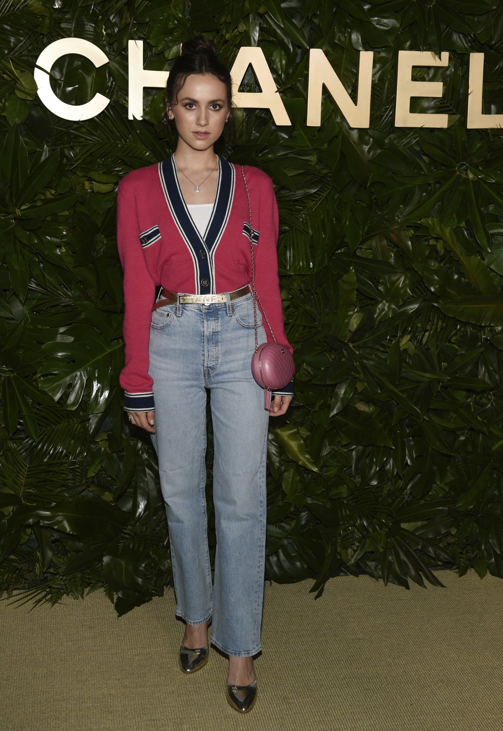 Actress Maude Apatow poses at the launch of the Gabrielle Chanel Essence fragrance at the Chateau Marmont, Thursday, Sept. 12, 2019, in Los Angeles. (