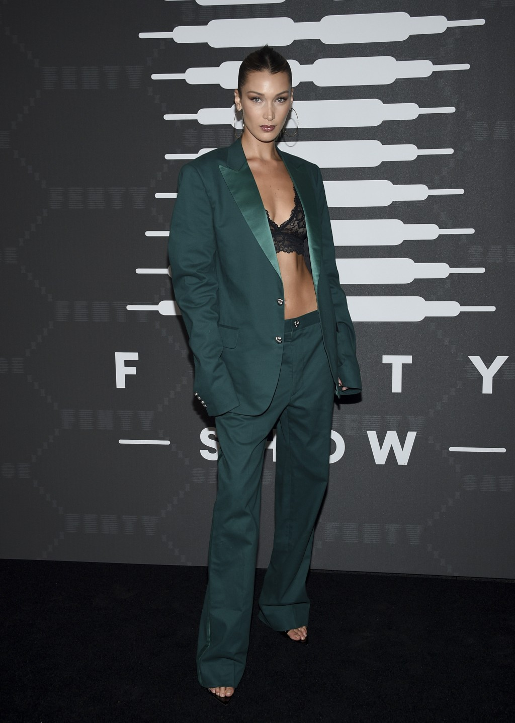 Model Bella Hadid attends the Spring/Summer 2020 Savage X Fenty show, presented by Amazon Prime, at the Barclays Center on Tuesday, Sept, 10, 2019, in