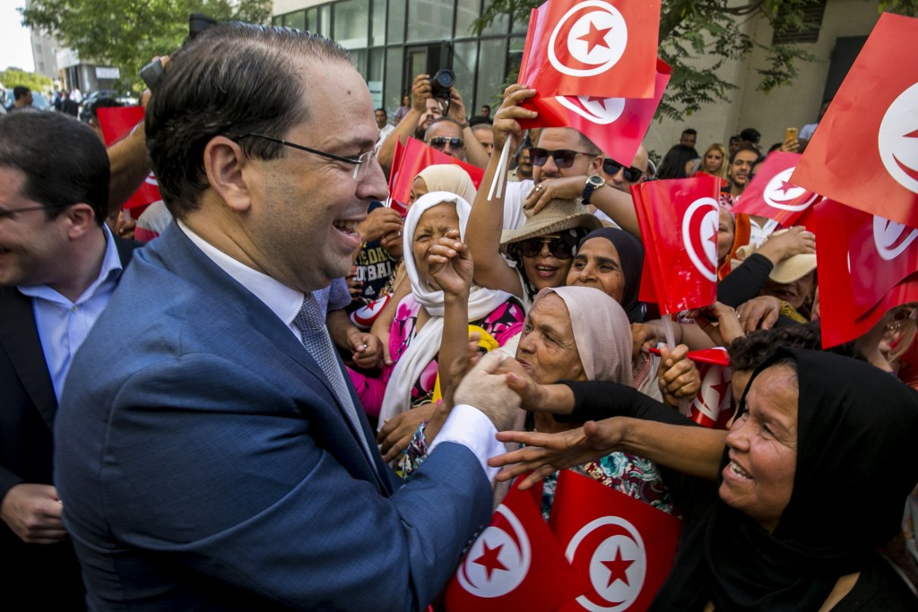 FILE - In this Aug. 9, 2019 file photo, Tunisian P...