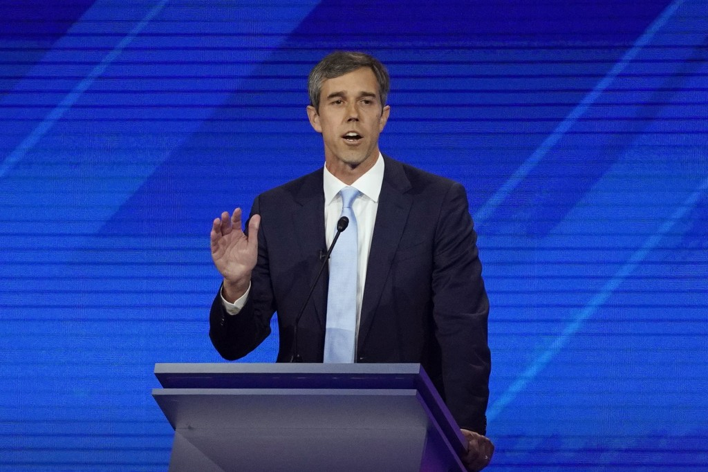 Democratic presidential candidate former Texas Rep. Beto O'Rourke answers a question Thursday, Sept. 12, 2019, during a Democratic presidential primar...