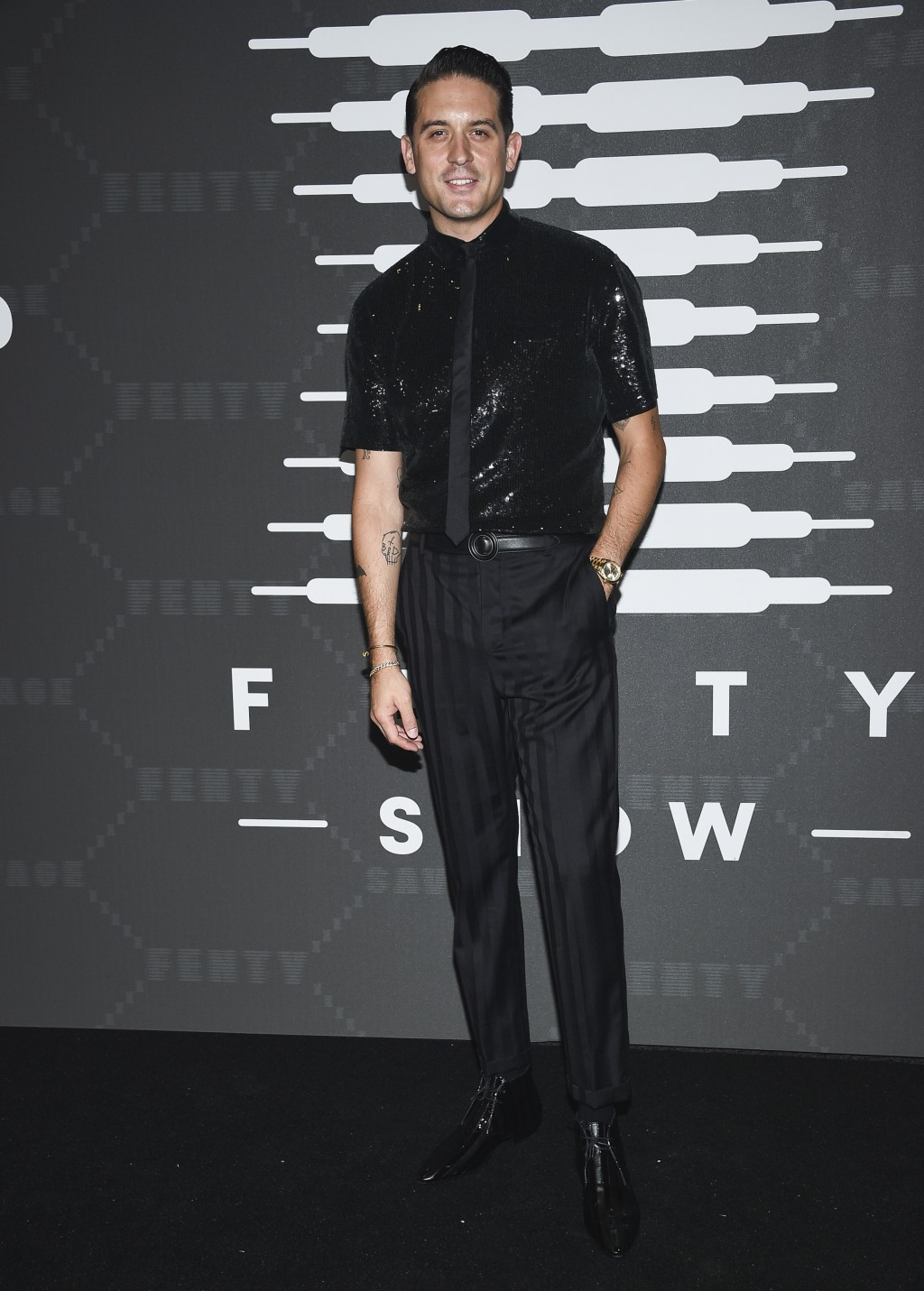 Rapper G-Eazy attends the Spring/Summer 2020 Savage X Fenty show, presented by Amazon Prime, at the Barclays Center on Tuesday, Sept, 10, 2019, in New...
