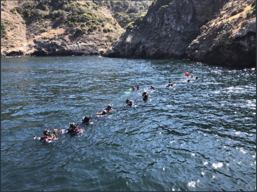 FILE - This Wednesday, Sept. 4, 2019, file photo provided by Santa Barbara County shows divers and support crews from many agencies working the scene ...