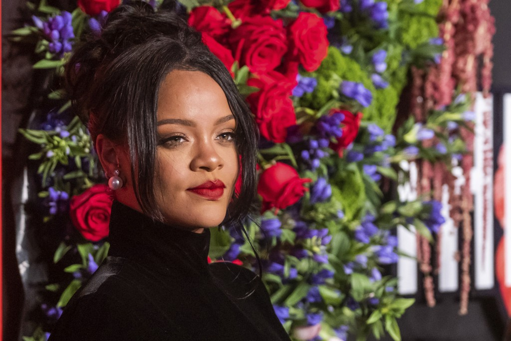 Rihanna attends the 5th annual Diamond Ball benefit gala at Cipriani Wall Street on Thursday, Sept. 12, 2019, in New York. (Photo by Charles Sykes/Inv...