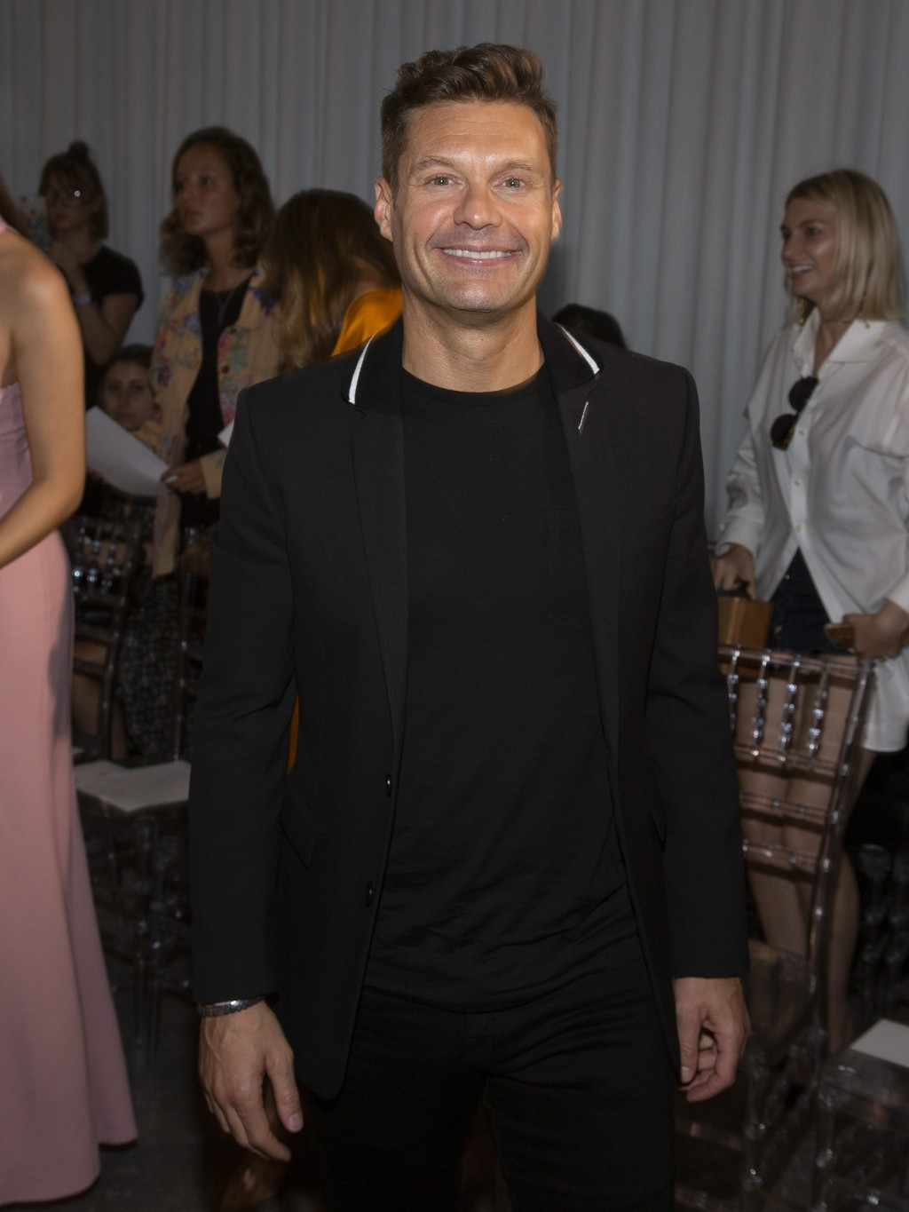 Ryan Seacrest attends the Naeem Khan runway show during NYFW Spring/Summer 2020 at 520 W. 28th Street on Tuesday, Sept. 10, 2019, in New York. (Photo ...