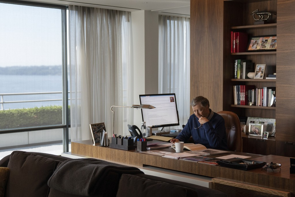 """This image released by Netflix shows billionaire philanthropist Bill Gates in a scene from """"Inside Bill's Brain: Decoding Bill Gates,"""" streaming Sept."""