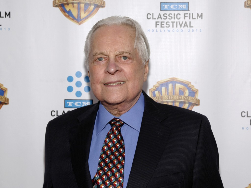 """FILE - This Jan. 31, 2013 file photo shows Turner Classic Movies host Robert Osborne attending the """"Cabaret"""" 40th anniversary screening in New York. A"""