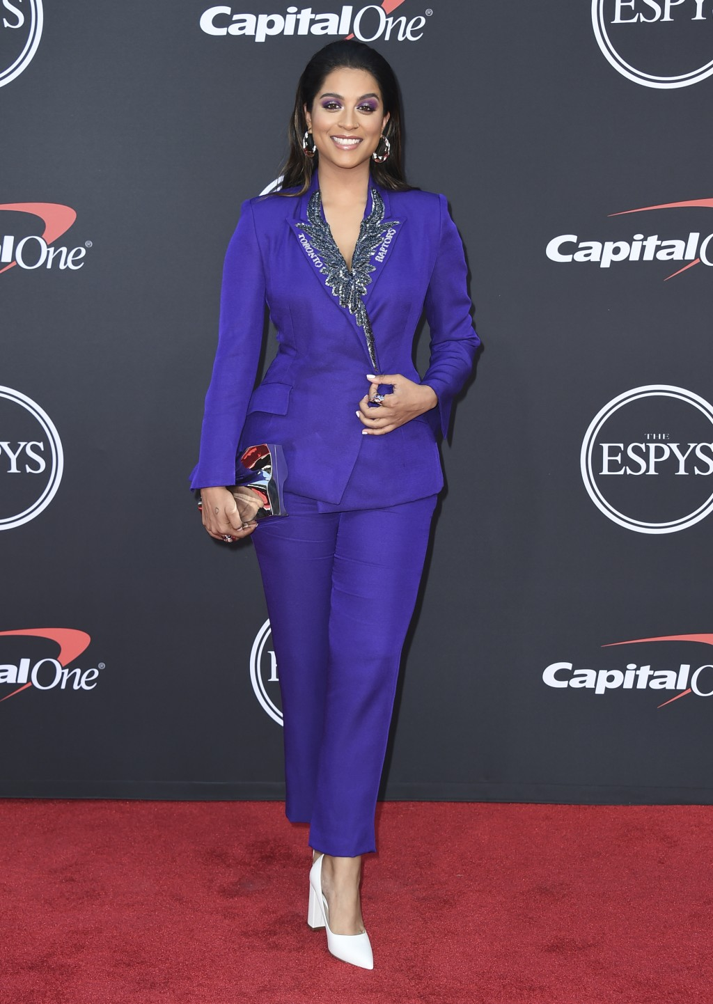 """FILE - This July 10, 2019 file photo shows Lilly Singh at the ESPY Awards in Los Angeles. Singh's late-night show """"A Little Late With Lilly Singh"""" deb"""