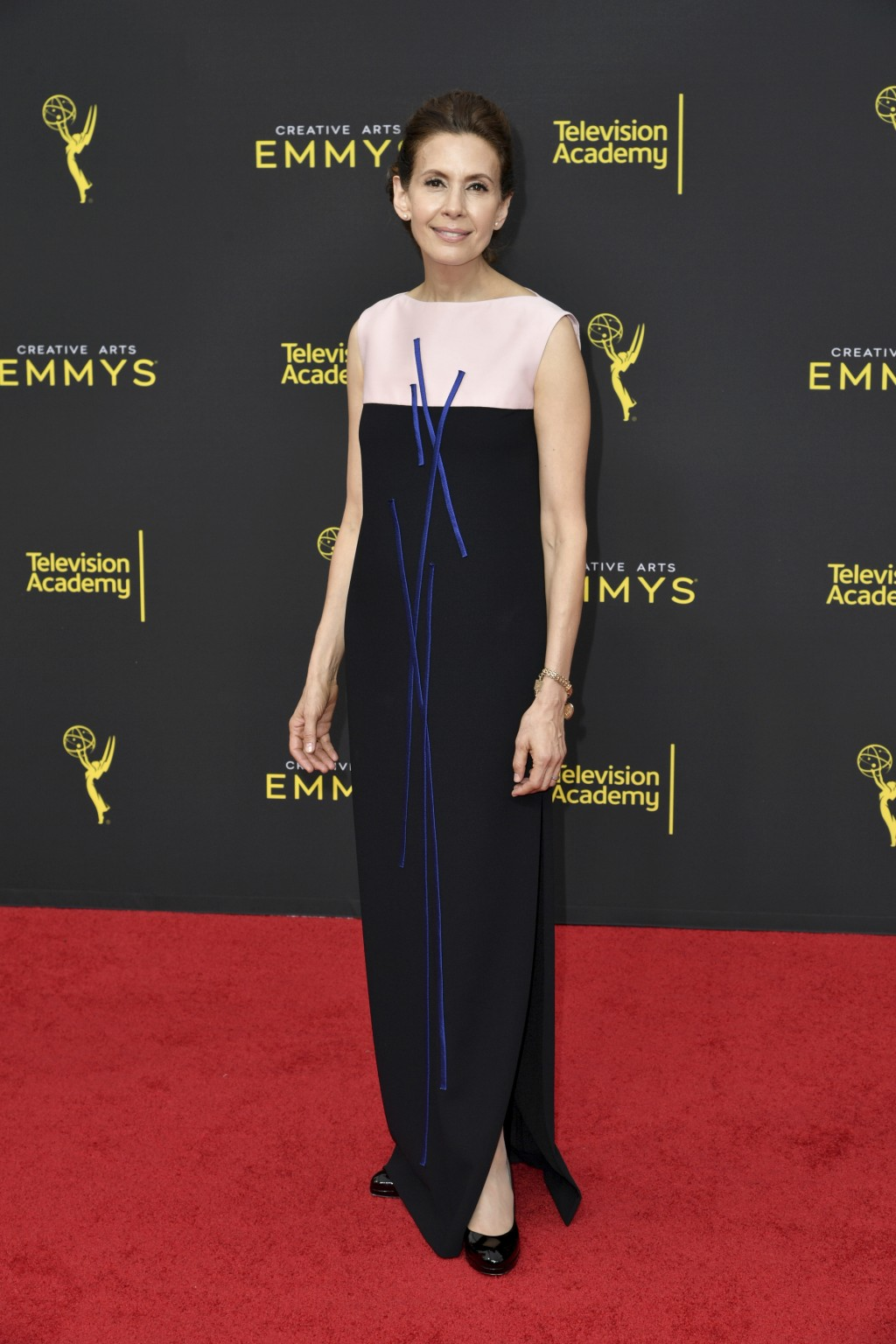 Jessica Hecht arrives at night two of the Creative Arts Emmy Awards on Sunday, Sept. 15, 2019, at the Microsoft Theater in Los Angeles. (Photo by Rich...