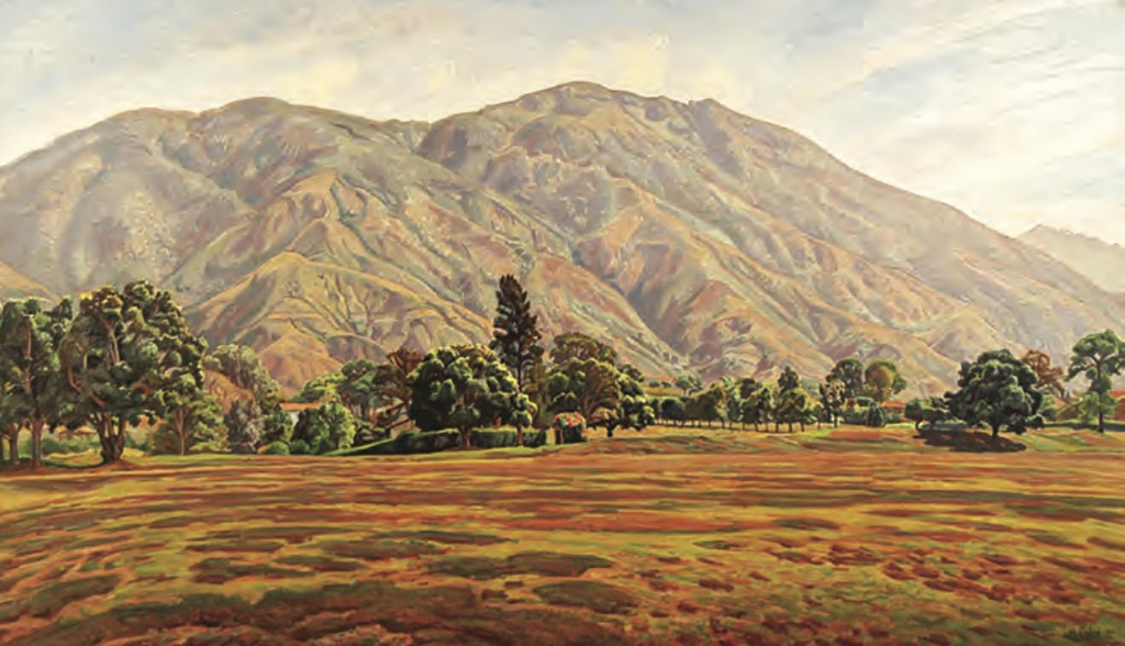 This image released by the Inter-American Development Bank shows a landscape of Caracas' imposing Avila mountain by Manuel Cabre, taken from an advert...