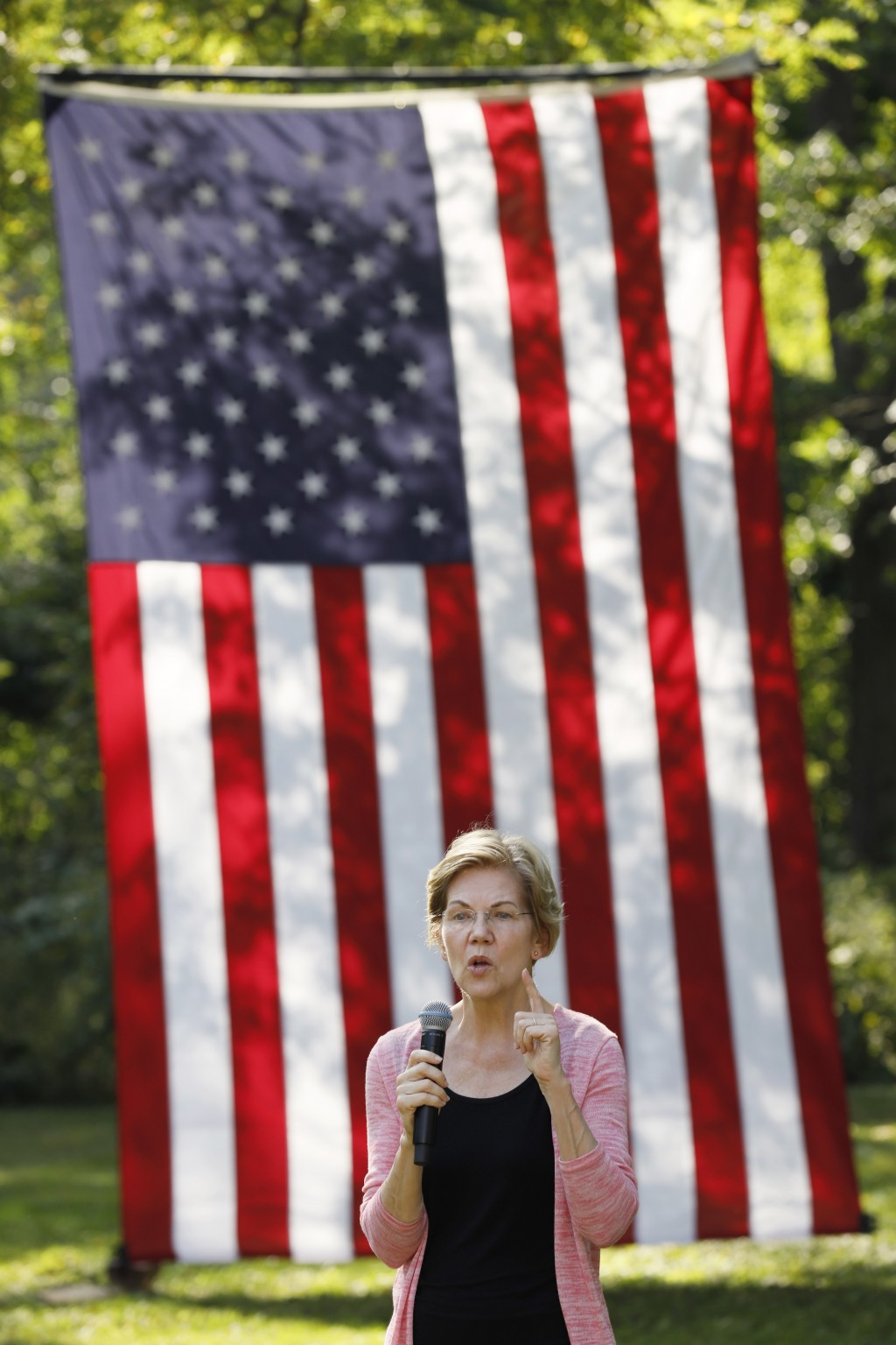 Democratic presidential candidate Sen. Elizabeth Warren speaks during a house party, Friday, Sept. 20, 2019, in Mount Vernon, Iowa. (AP Photo/Charlie