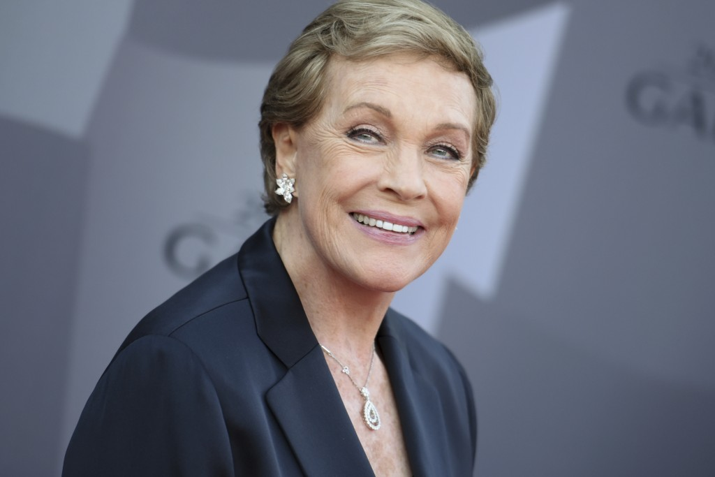 FILE - In this Sept. 29, 2015 file photo, actress Julie Andrews arrives at the Los Angeles Philharmonic 2015/2016 season opening gala at Walt Disney C