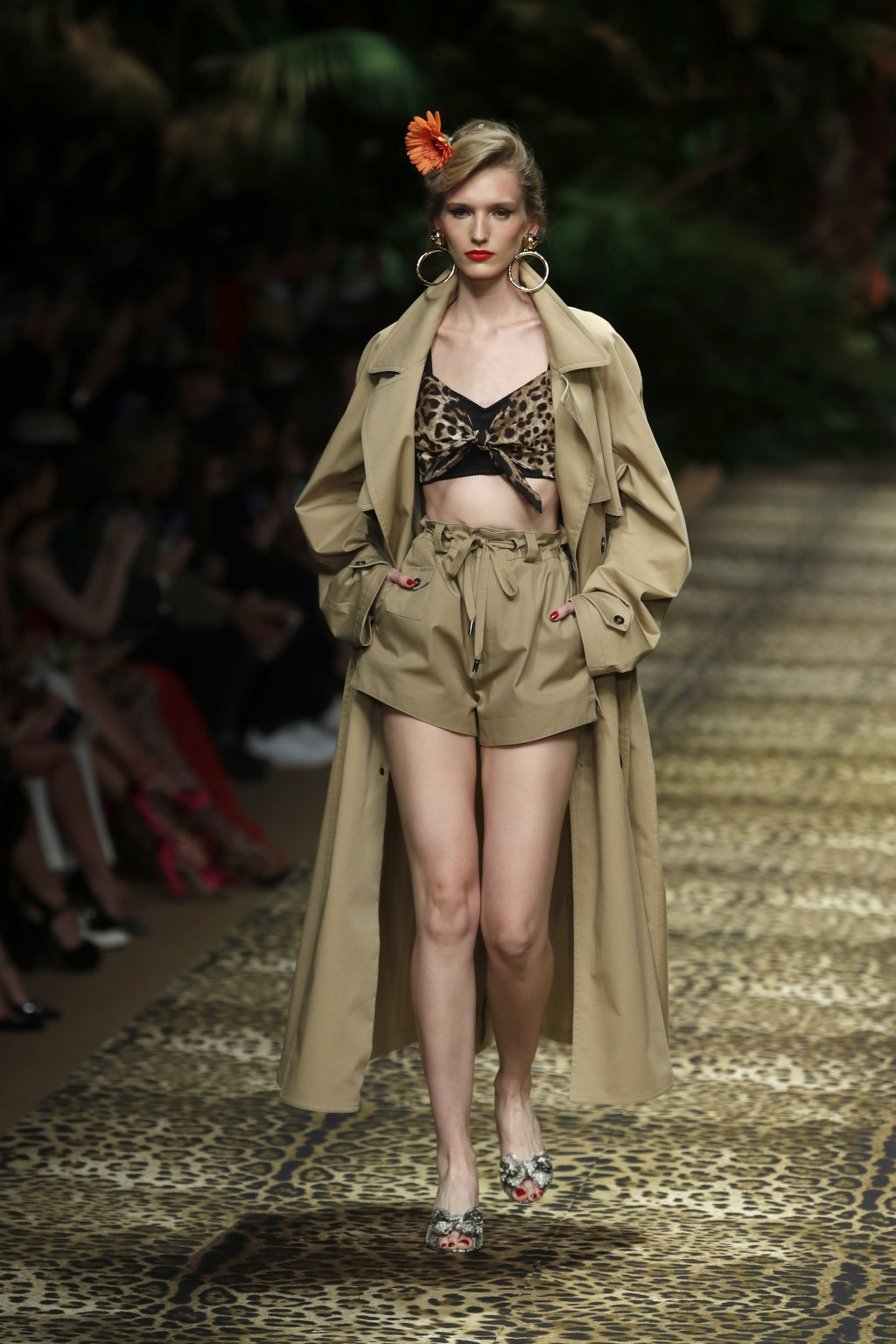 A model wears a creation as part of the Dolce & Gabbana Spring-Summer 2020 collection, unveiled during the fashion week, in Milan, Italy, Sunday, Sept...