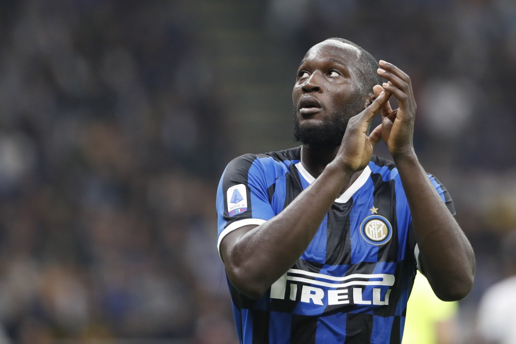 Inter Milan's Romelu Lukaku leaves the field during a Serie A soccer match between Inter Milan and Lazio, at the San Siro stadium in Milan, Italy, Wed...