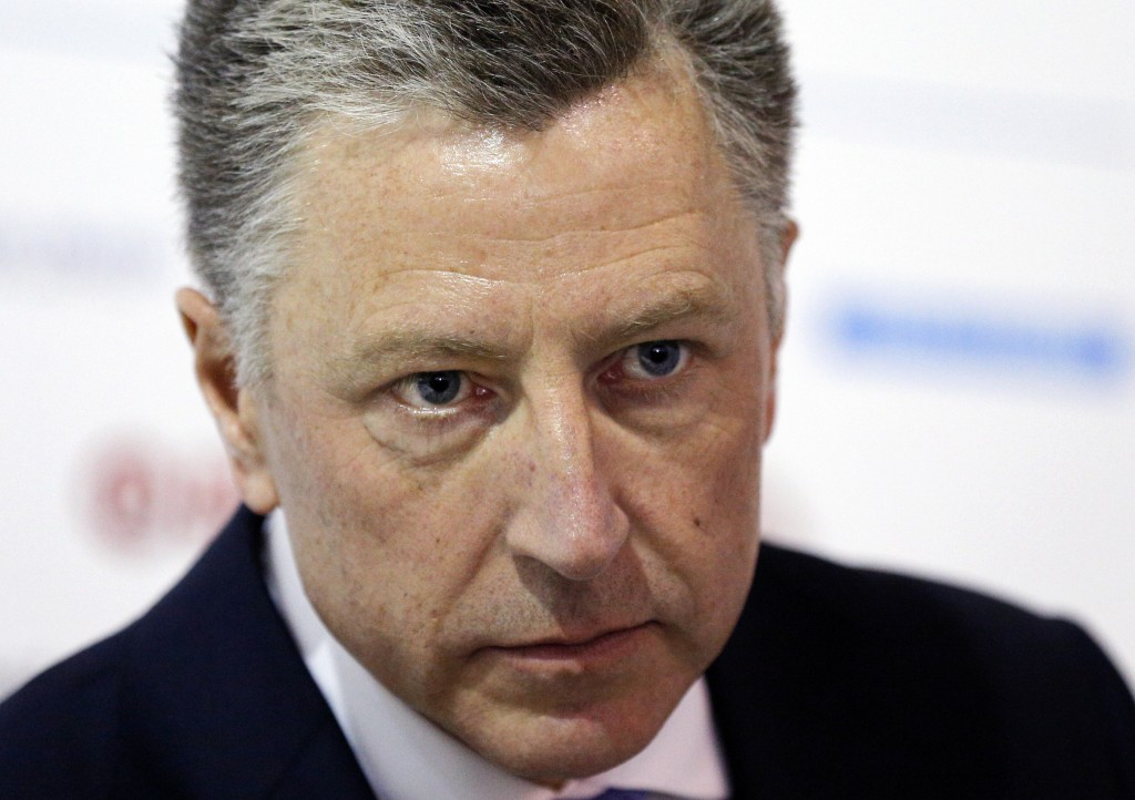 FILE - In this Sept. 15, 2018 file photo, U.S. special representative to Ukraine Kurt Volker attends the 15th Yalta European Strategy (YES) annual mee...