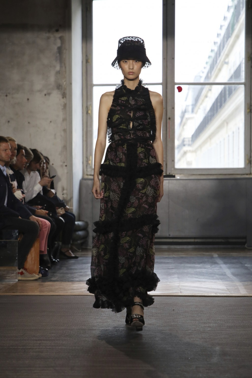 A model wears a creation as part of the Valli Ready To Wear Spring-Summer 2020 collection, unveiled during the fashion week, in Paris, Monday, Sept. 3...