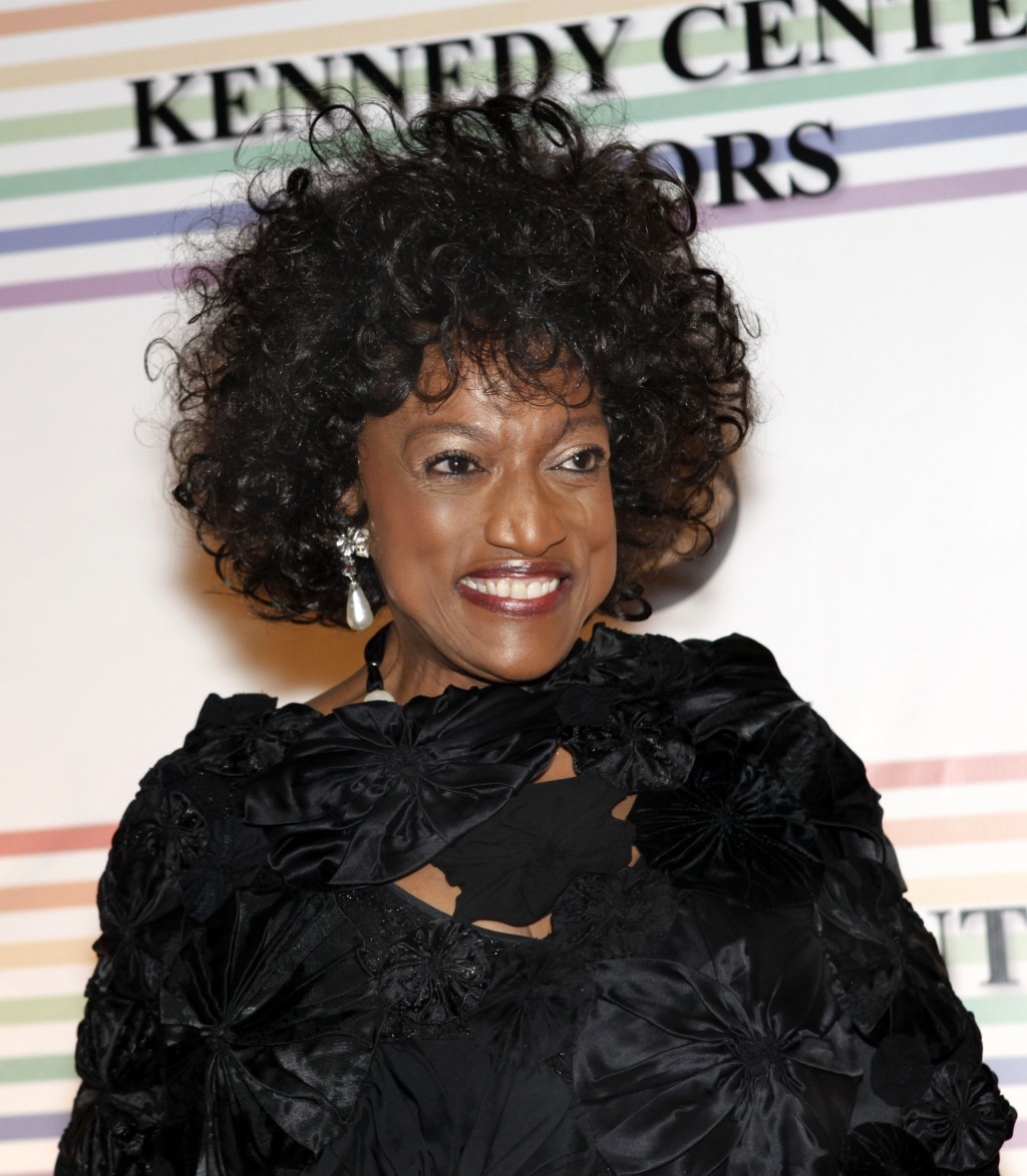 FILE - This Dec. 5, 2010 file photo shows opera singer Jessye Norman at the Kennedy Center Honors in Washington. Norman died, Monday, Sept. 30, 2019,