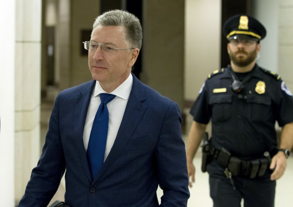 Kurt Volker, a former special envoy to Ukraine, is leaving after a closed-door interview with House investigators as House Democrats proceed with the