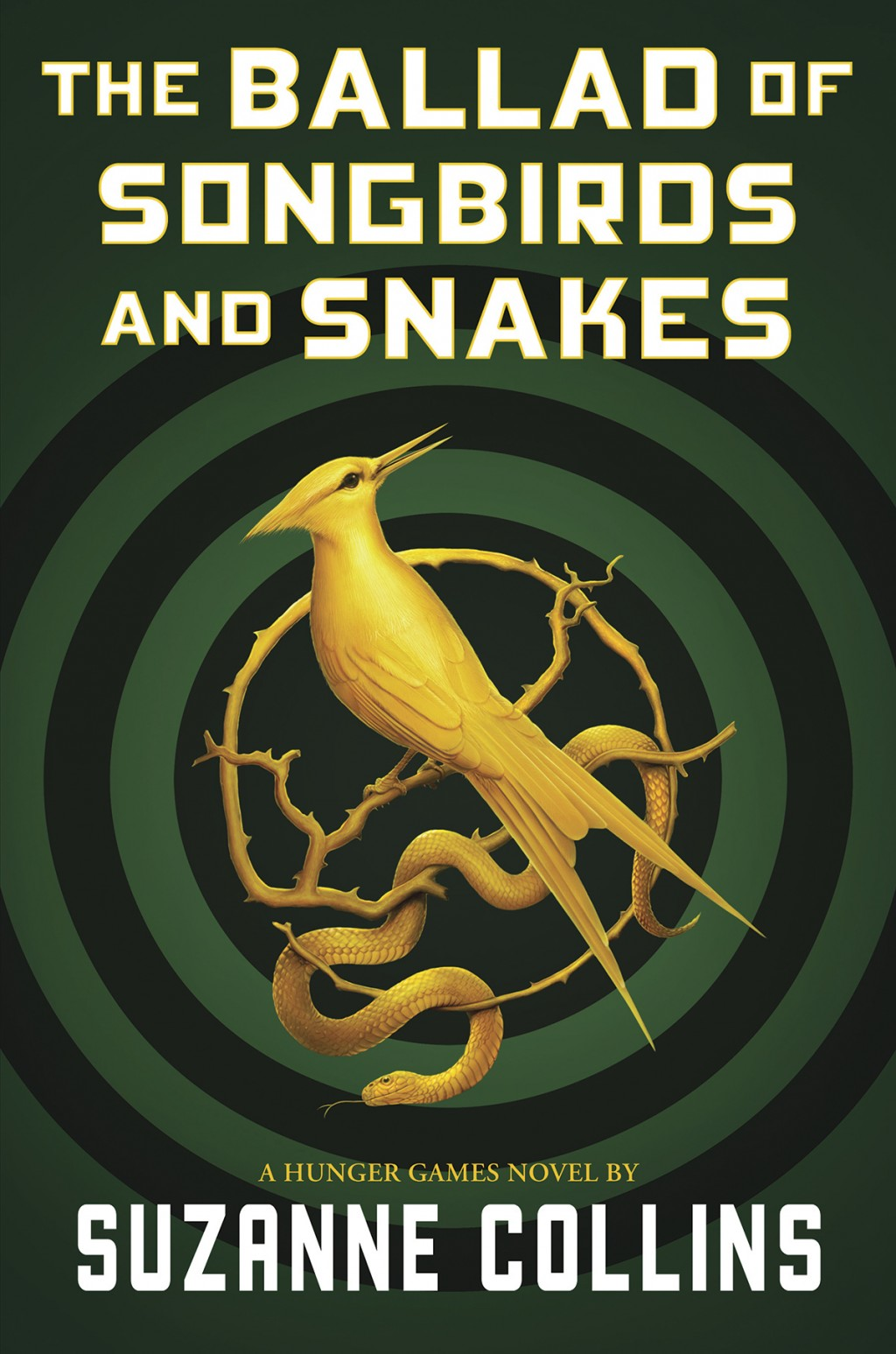 """This cover image released by Scholastic shows """"The Ballad of Songbirds and Snakes,"""" a Hunger Games novel by Suzanne Collins, to be published on May 19"""
