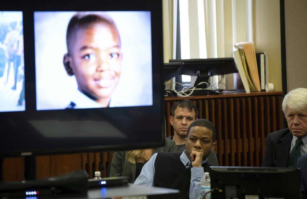 Corey Morgan listens during closing statements in his trial for the murder of 9-year-old Tyshawn Lee at the Leighton Criminal Court Building in Chicag