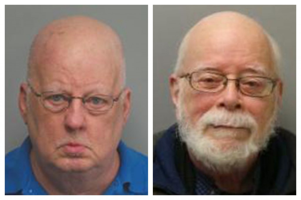 This combination of 2019 and 2017 photos made available by the Missouri State Highway Patrol shows James Alan Funke, left, and Jerome Bernard Robben. ...