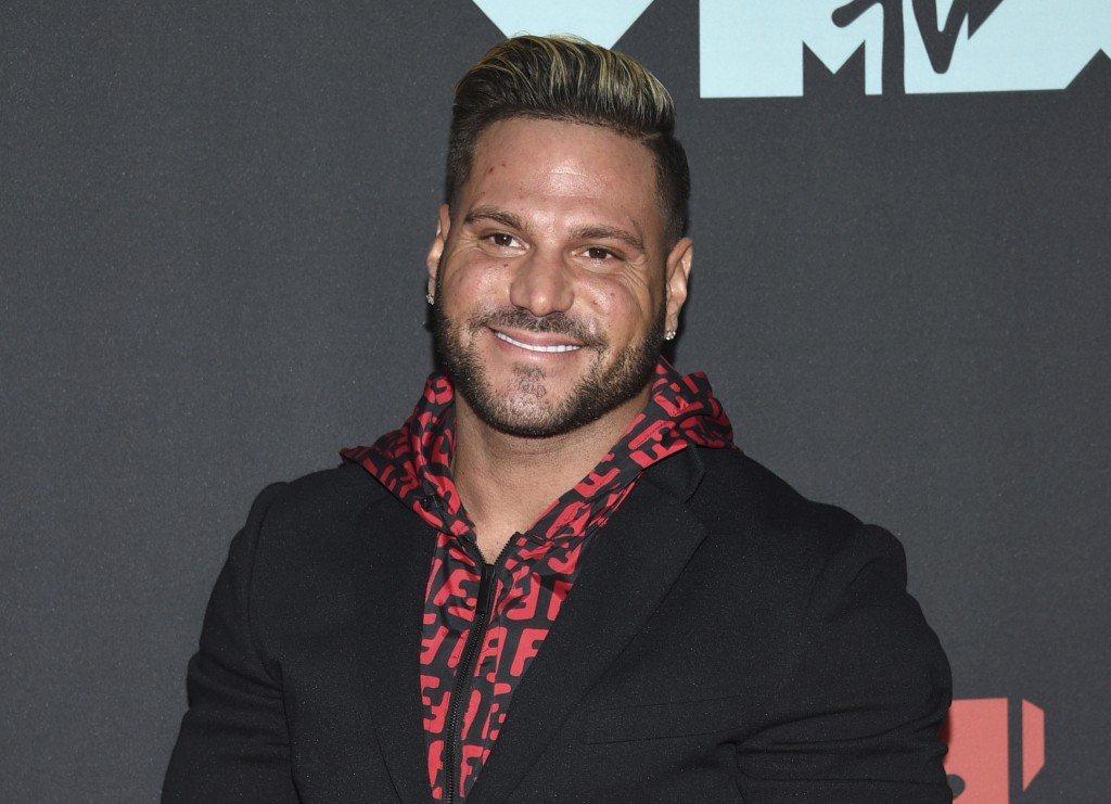 """FILE - This Aug. 26, 2019 file photo shows """"Jersey Shore"""" cast member Ronnie Ortiz-Magro at the MTV Video Music Awards in Newark, N.J. Ortiz-Magro has"""