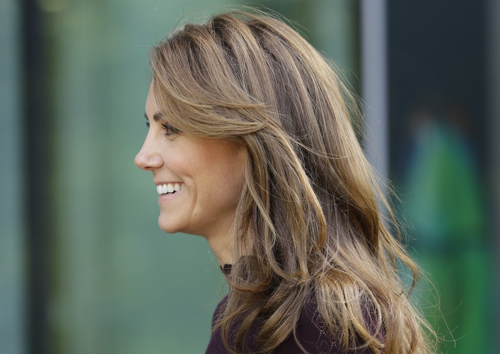 Britain's Kate, The Duchess of Cambridge leaves after a visit to The Natural History Museum in London, Wednesday, Oct. 9, 2019. The Duchess of Cambrid...