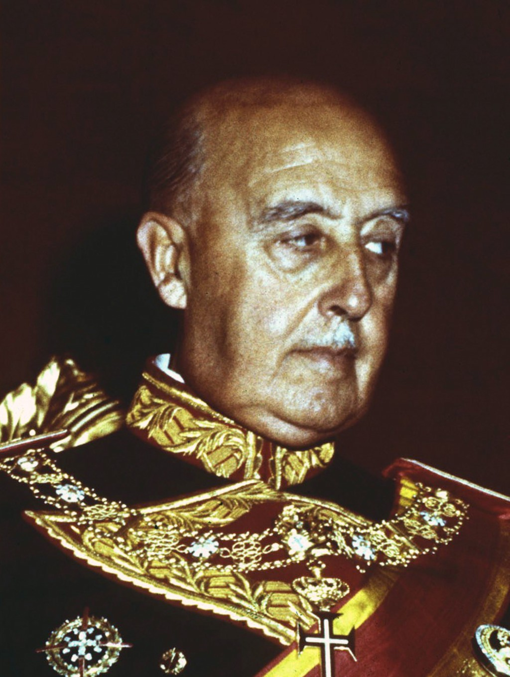 FILE, undated file photo of former Spanish dictator Francisco Franco. After a tortuous judicial and public relations battle, Spain's Socialist governm...