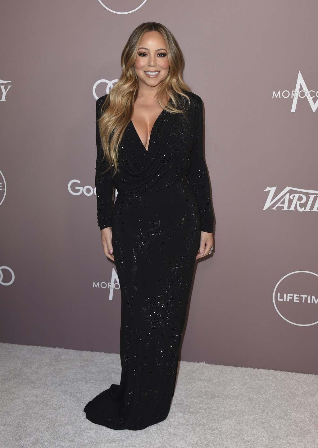 Mariah Carey arrives at Variety's Power of Women on Friday, Oct. 11, 2019, at the Beverly Wilshire hotel in Beverly Hills, Calif. (Photo by Jordan Str