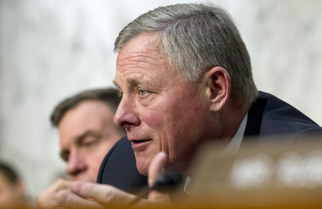 FILE - In this Jan. 29, 2019, file photo, Senate Intelligence Committee Chairman Sen. Richard Burr, R-N.C. speaks during a Senate Intelligence Committ