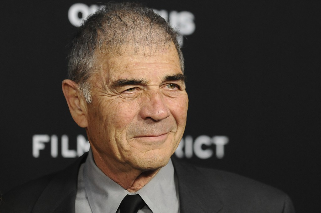 """FILE - In this Monday, March 18, 2013 file photo, Robert Forster arrives at the LA premiere of """"Olympus Has Fallen"""" at the ArcLight Theatre in Los Ang..."""
