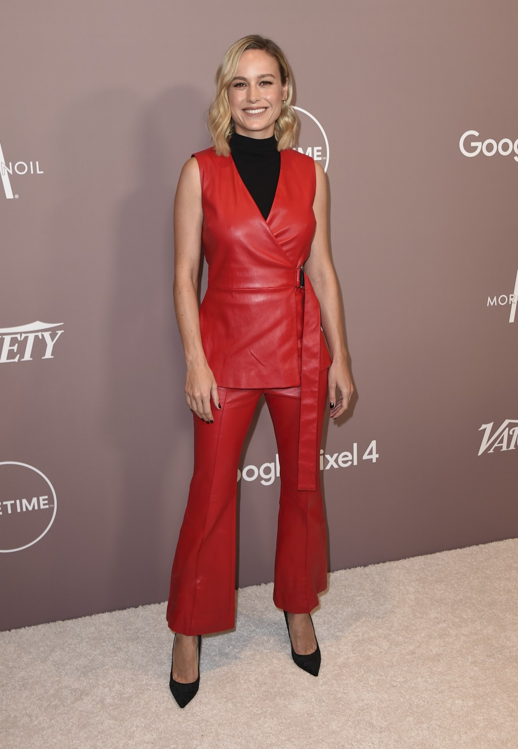 Brie Larson arrives at Variety's Power of Women on Friday, Oct. 11, 2019, at the Beverly Wilshire hotel in Beverly Hills, Calif. (Photo by Jordan Stra...