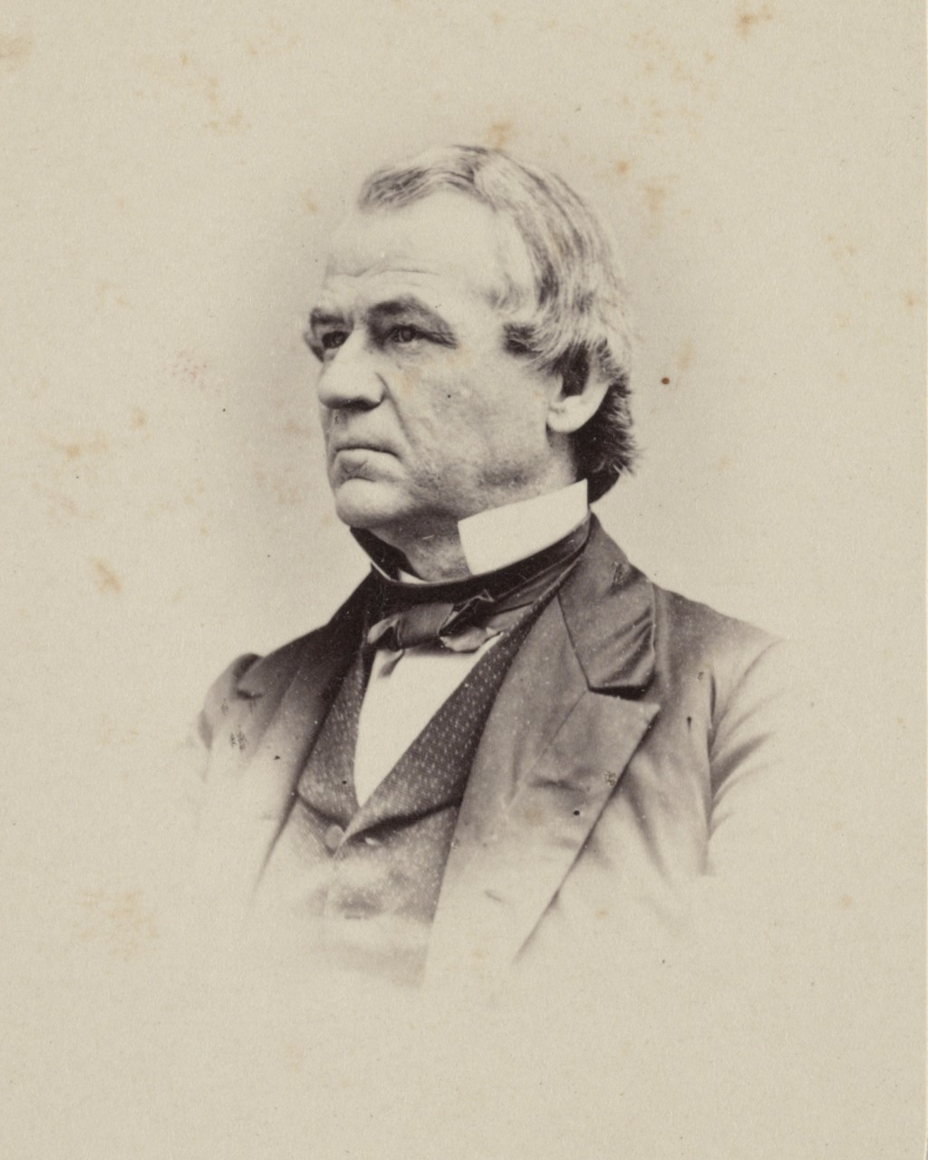 This 1860-1875 photo made available by the Library of Congress shows Andrew Johnson. Johnson, a Democrat, became vice president under Republican Abrah...