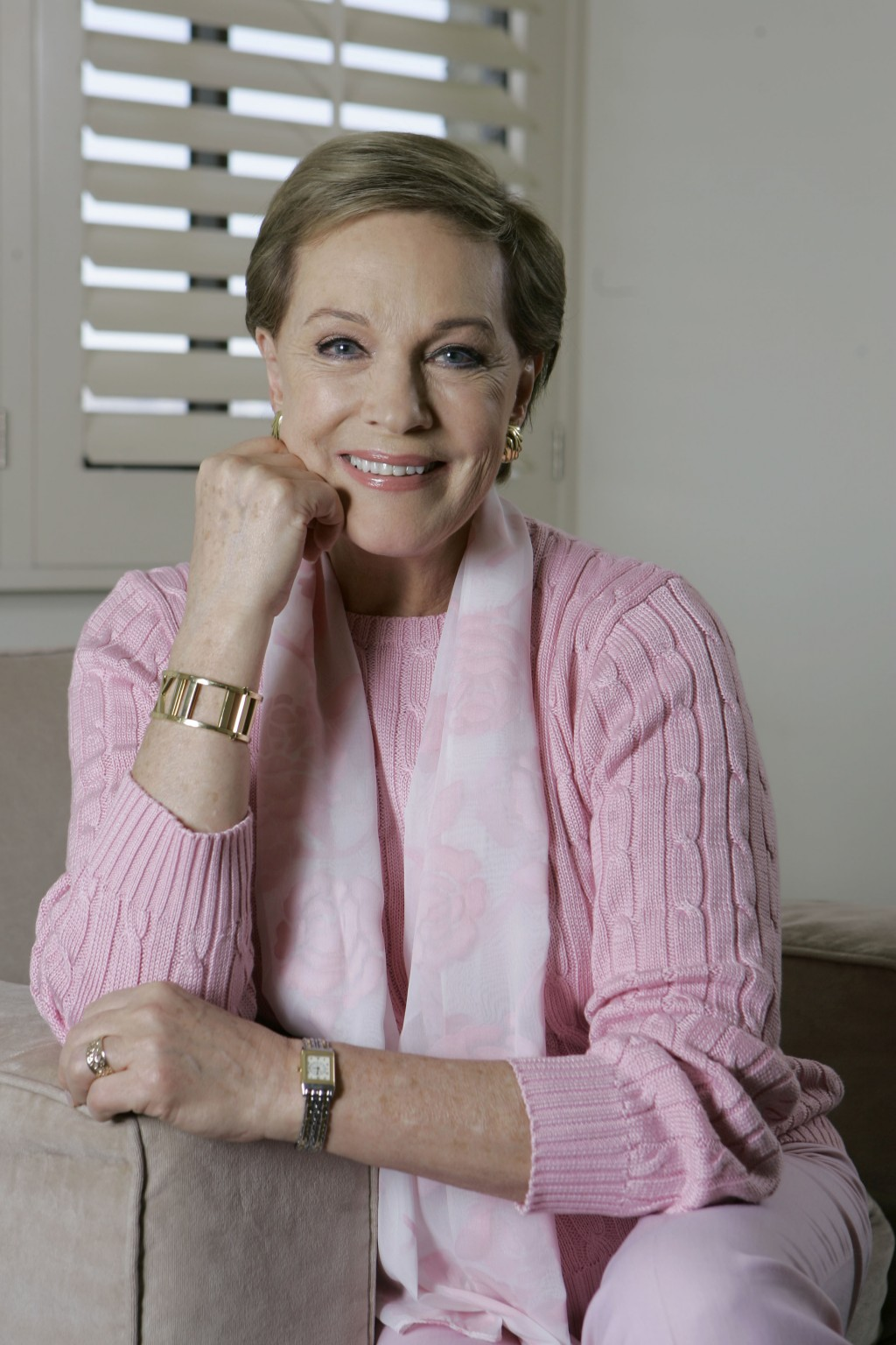 "FILE - This May 5, 2007 file photo shows actress and singer Julie Andrews poses in Los Angeles. Andrews released a memoir, ""Home Work: A Memoir of My ..."