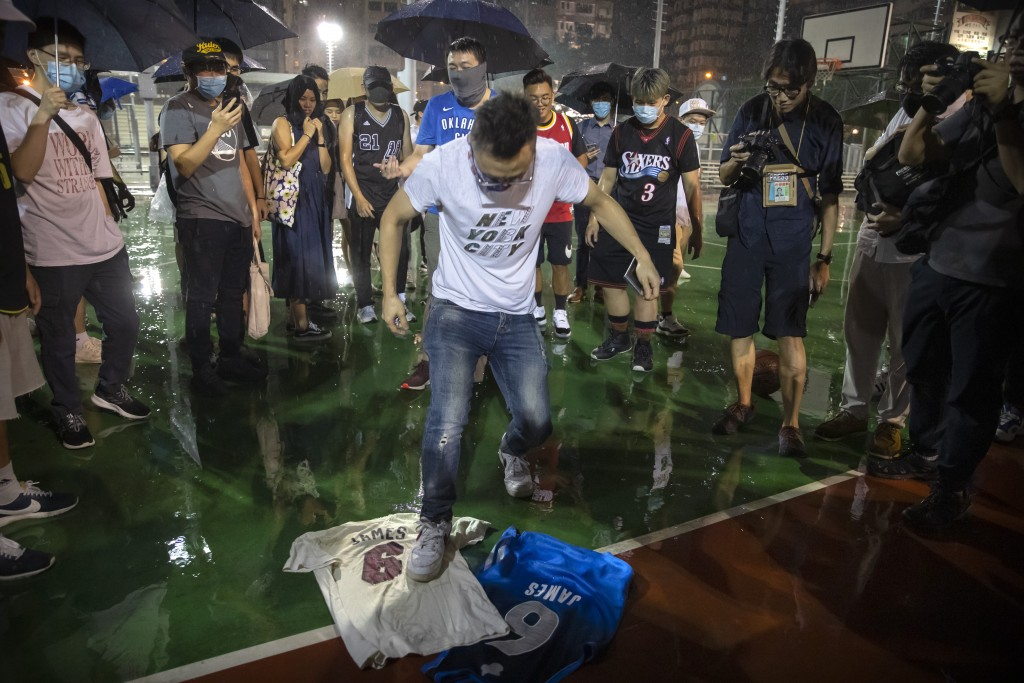 China denounces United States bill backing HK protests