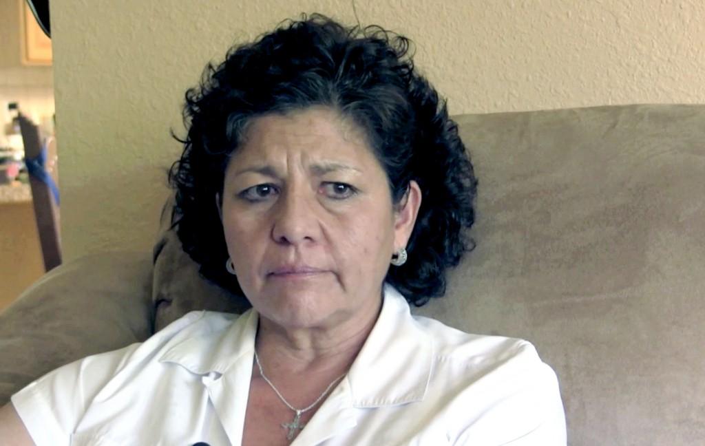 FILE- In this July 14, 2015, file image from video, Tina Cordova talks of her late father, Anastacio Cordova, in her Albuquerque, N.M., home. Cordova ...