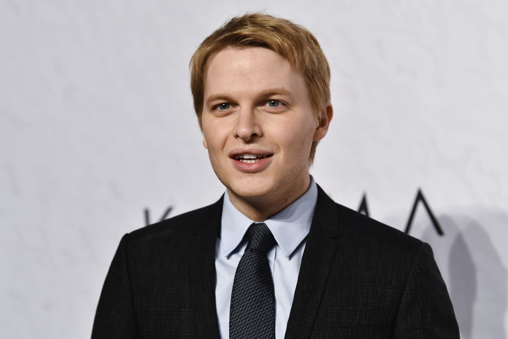 FILE - In this April 13, 2018 file photo, Ronan Farrow attends Variety's Power of Women event in New York. Farrow's new book is being sold in Australi...