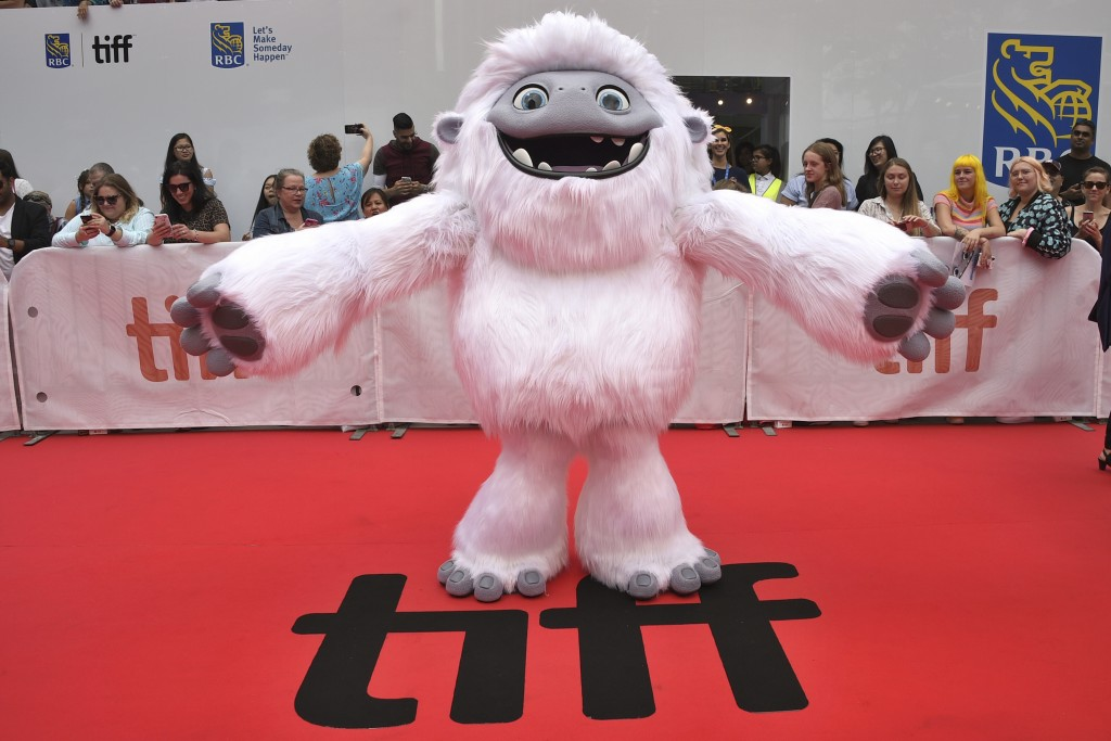 "FILE - In this Sept. 7, 2019, file photo, the character Everest from the film ""Abominable"" appears on the red carpet on day three of the Toronto Inter..."