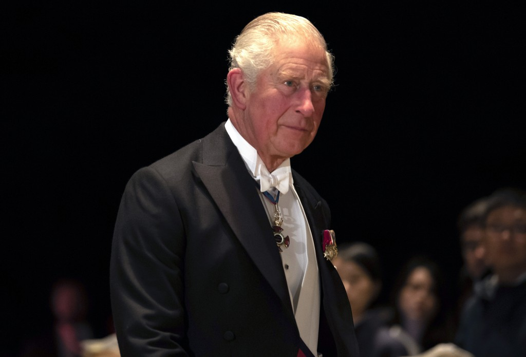 Britain's Prince Charles arrives at the Imperial Palace for the Court Banquets after the enthronement ceremony of Emperor Naruhito in Tokyo Tuesday, O...